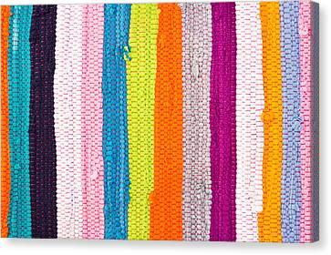 Tapestries - Textiles Canvas Print - Colorful Textile by Tom Gowanlock