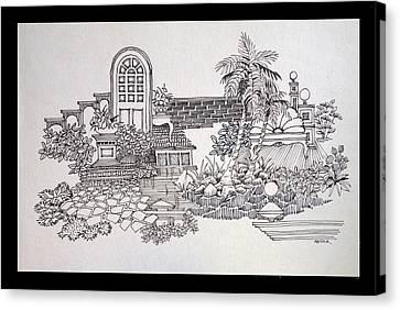 Lamp Post Canvas Print - Composition by Sanika Dhanorkar nee Meenal Pradhan
