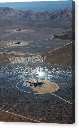 Concentrating Solar Power Plant Canvas Print by Jim West