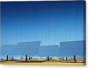 Concentrating Solar Power Plant Canvas Print by Philippe Psaila