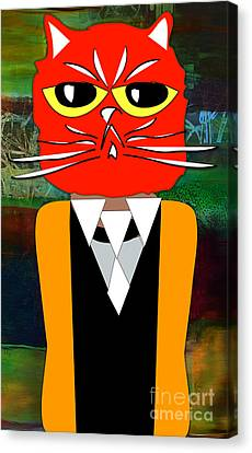Cool Cat Canvas Print by Marvin Blaine