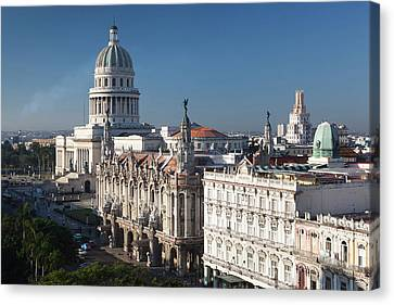 Habana Canvas Print - Cuba, Havana, Elevated City View by Walter Bibikow