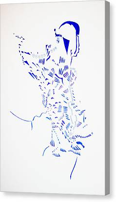 Dinka Corset - South Sudan Canvas Print by Gloria Ssali