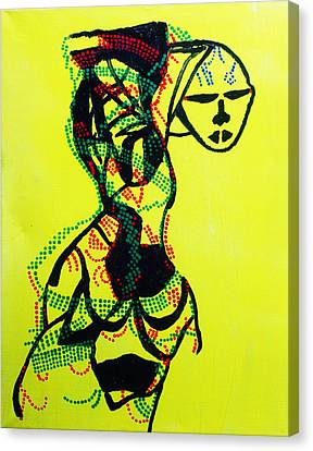 Dinka Dance Canvas Print - Dinka Lady - South Sudan by Gloria Ssali