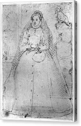 Elizabeth I (1533-1603) Canvas Print by Granger