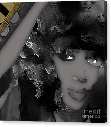 Actors Canvas Print - Empires Naomi Campbell Camilla by Marvin Blaine