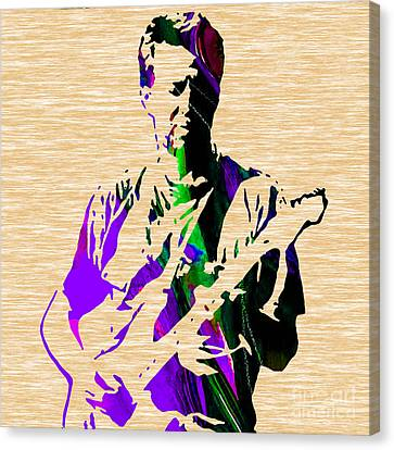 Eric Canvas Print - Eric Clapton Collection by Marvin Blaine