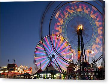 Evergreen State Fair With Ferris Wheel Canvas Print