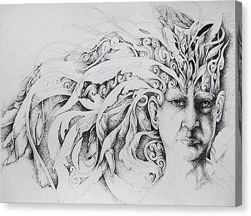 Face Canvas Print by Moshfegh Rakhsha