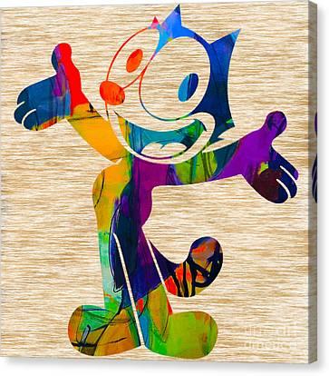 Felix The Cat Canvas Print by Marvin Blaine
