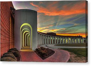 Ferguson Center For The Arts Canvas Print by Jerry Gammon