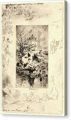 Félix Hilaire Buhot French Canvas Print by Litz Collection