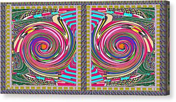 Focus Target Yoga Mat Chakra Meditation Round Circles Roulette Game Casino Flying Carpet Energy Mand Canvas Print by Navin Joshi