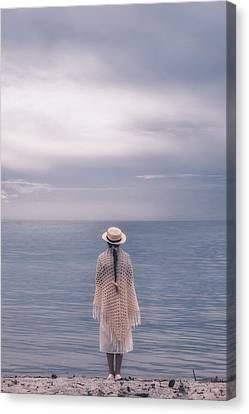 Braids Canvas Print - Girl At The Sea by Joana Kruse