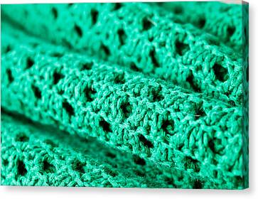 Green Wool Canvas Print