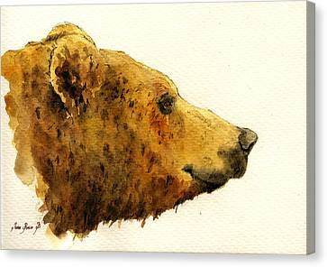 Grizzly Bear Canvas Print by Juan  Bosco