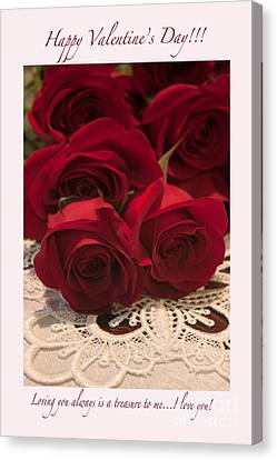 Happy Valentine's Day #3 Canvas Print by Ivete Basso Photography