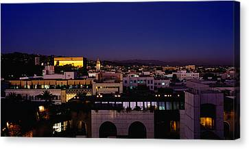 High Angle View Of A Cityscape Canvas Print by Panoramic Images