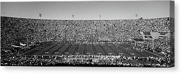High Angle View Of A Football Stadium Canvas Print