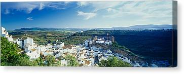 High Angle View Of Buildings In A Town Canvas Print by Panoramic Images