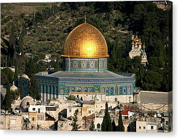Israel, Jerusalem Canvas Print by David Noyes