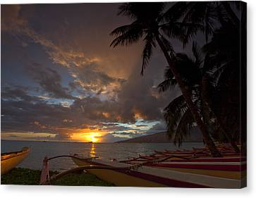Kihei Canoes Canvas Print by James Roemmling