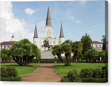 St.louis Cathedral Canvas Print - La, New Orleans, French Quarter by Jamie and Judy Wild