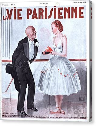 La Vie Parisienne 1935 1930s France Canvas Print by The Advertising Archives