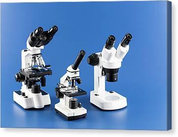Laboratory Equipment Canvas Print - Laboratory Microscope by Wladimir Bulgar