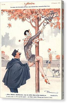 Le Sourire 1920s France Glamour Erotica Canvas Print by The Advertising Archives