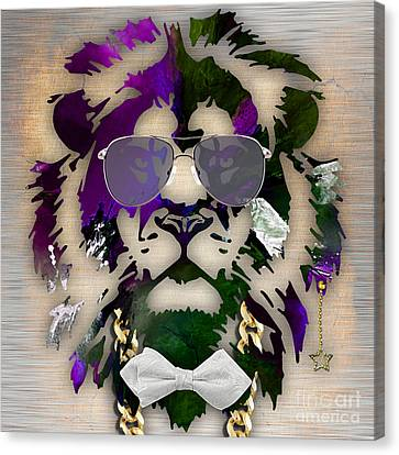 Cats Canvas Print - Lion Collection by Marvin Blaine