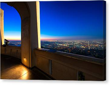 Los Angeles As Seen From The Griffith Observatory Canvas Print