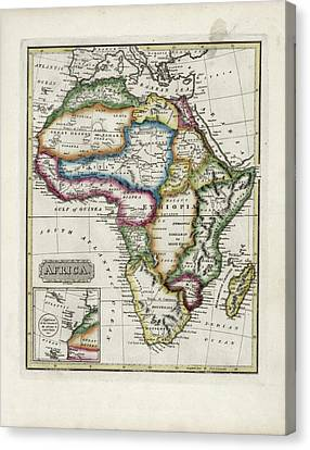 Sudan Red Canvas Print - Map Of Africa by Library Of Congress, Geography And Map Division