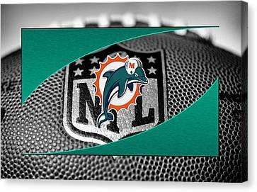 Miami Dolphins Canvas Print by Joe Hamilton
