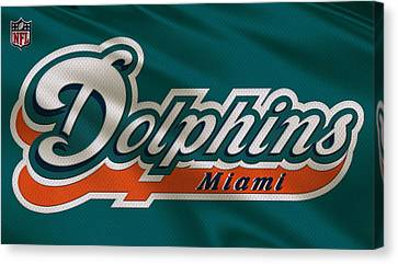 Miami Dolphins Uniform Canvas Print