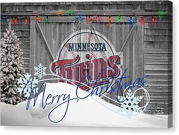 Minnesota Twins Canvas Print by Joe Hamilton