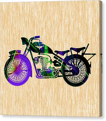 Bikes Canvas Print - Motorcycle by Marvin Blaine