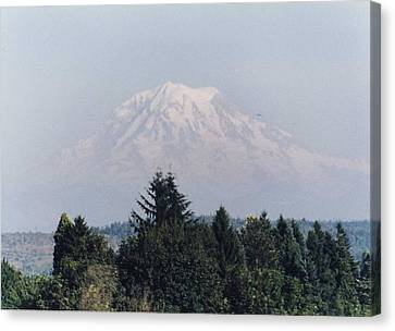 Mount Rainier  Canvas Print by Myrna Walsh