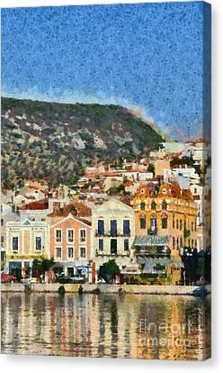 Mytilini Port Canvas Print by George Atsametakis