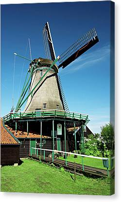 Netherlands, North Holland, Zaanstad Canvas Print by Miva Stock
