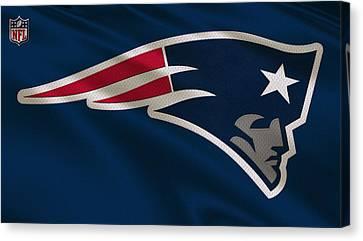 New England Patriots Uniform Canvas Print by Joe Hamilton