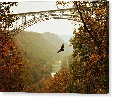New River Gorge Bridge Canvas Print by Mary Almond