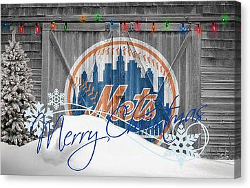 New York Mets Stadium Canvas Print - New York Mets by Joe Hamilton