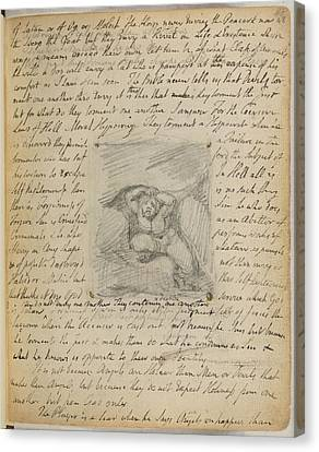 Booze Canvas Print - Notebook Of William Blake by British Library