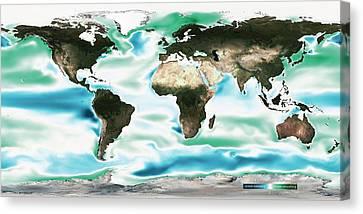 Co2 Canvas Print - Ocean-atmosphere Co2 Exchange by Noaa