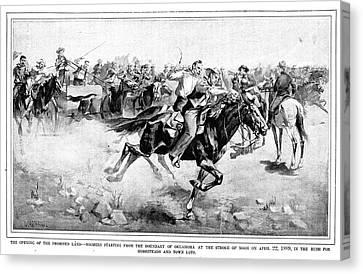 Oklahoma Land Rush, 1889 Canvas Print by Granger