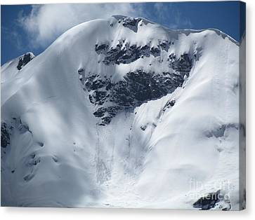 Peru Mountain Snow Canvas Print by Ted Pollard