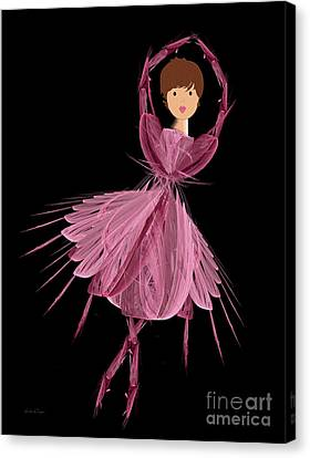 6 Pink Ballerina Canvas Print by Andee Design