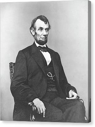 Civil War Lincoln Canvas Print - President Lincoln by War Is Hell Store