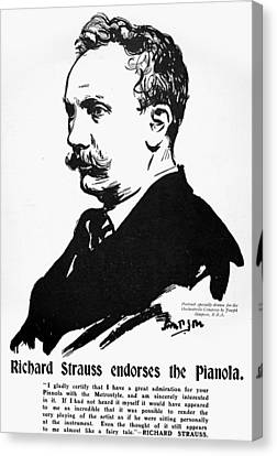 Richard Strauss (1864-1949) Canvas Print by Granger